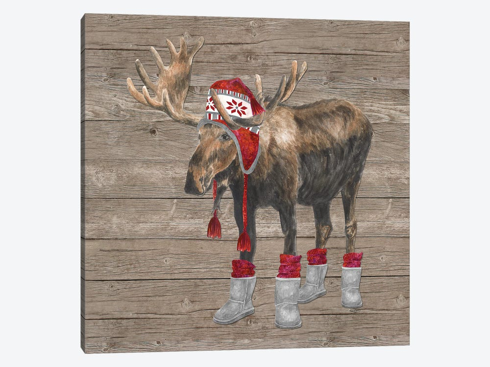 Warm In The Wilderness Moose by Tara Reed 1-piece Canvas Art