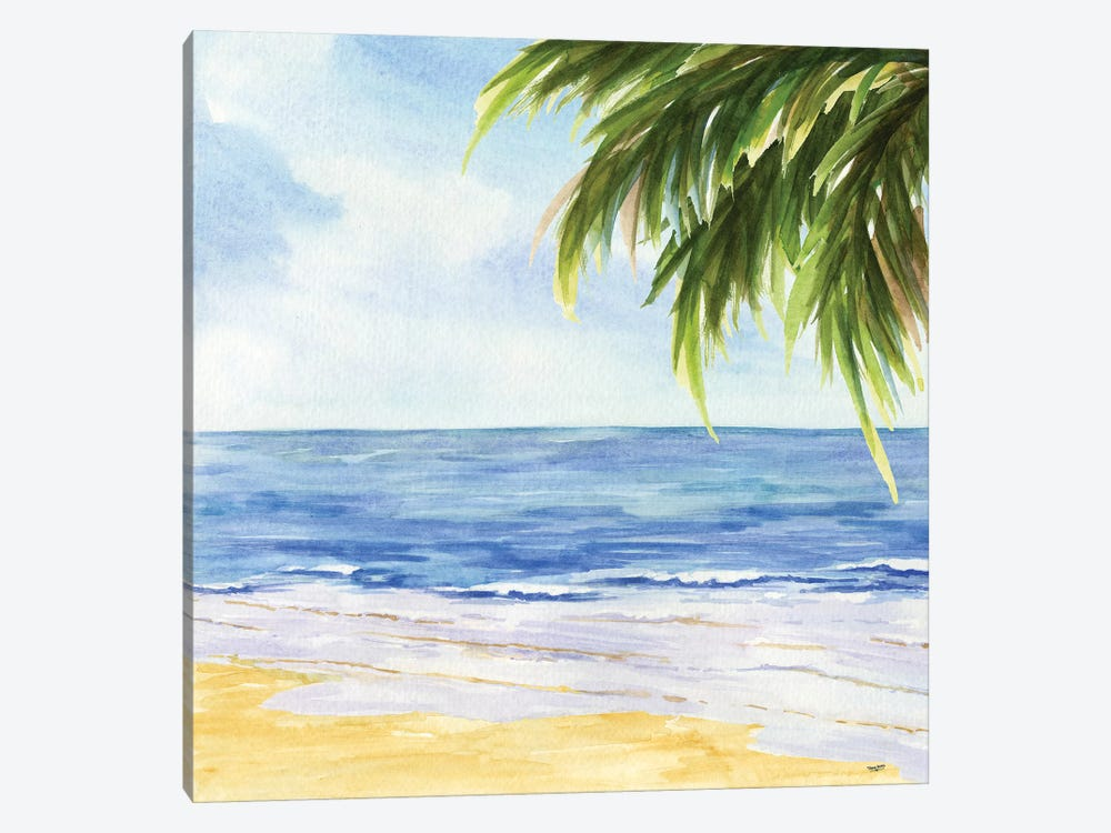 Beach & Palm Fronds I by Tara Reed 1-piece Canvas Art