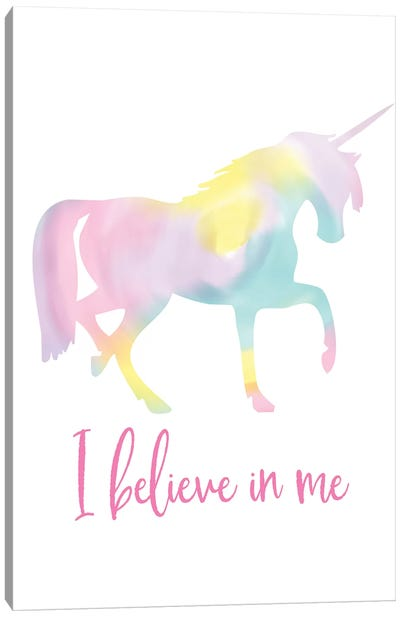 Watercolor Unicorn I Canvas Art Print