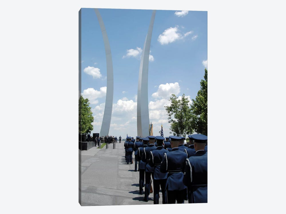 United States Honor Guards Stand In Formation At The Air Force Memorial 1-piece Canvas Print