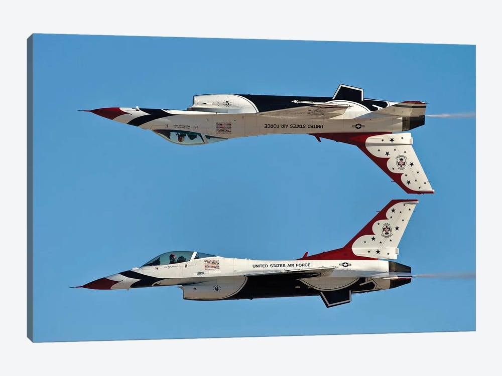 US Air Force Thunderbirds Demonstrate The Calypso Pass by Stocktrek Images 1-piece Canvas Artwork