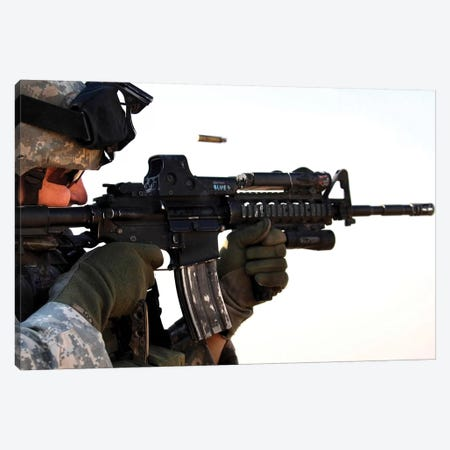 US Army Soldier Zeros His Weapon At A Range Canvas Print #TRK1018} by Stocktrek Images Canvas Print