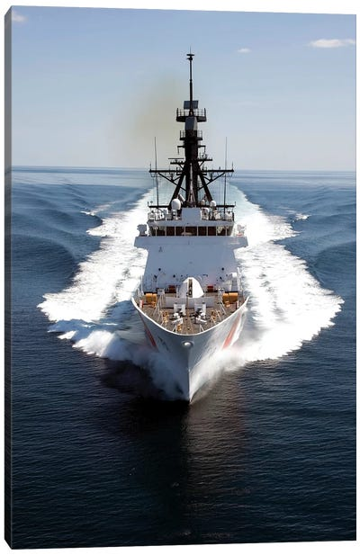 US Coast Guard Cutter Waesche Navigates The Gulf Of Mexico I Canvas Art Print