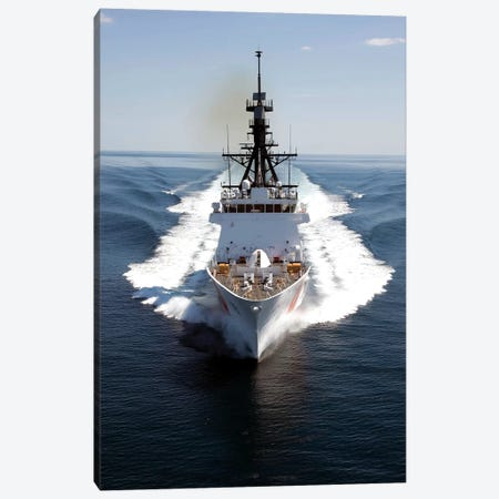 US Coast Guard Cutter Waesche Navigates The Gulf Of Mexico I Canvas Print #TRK1022} by Stocktrek Images Canvas Art