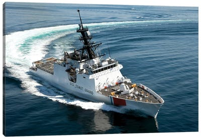 US Coast Guard Cutter Waesche Navigates The Gulf Of Mexico II Canvas Art Print