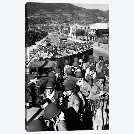 US Marine Troops Arrive At The Supply Port Of Busan, South Korea Canvas Print #TRK1028} by Stocktrek Images Canvas Wall Art