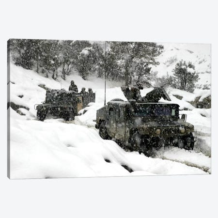 US Marines Conducting A Mounted Patrol In Khowst-Gardez Pass In Afghanistan Canvas Print #TRK1029} by Stocktrek Images Canvas Artwork