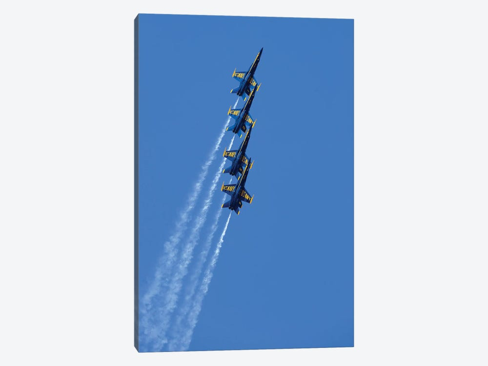 US Navy Flight Demonstration Squadron, The Blue Angels II by Stocktrek Images 1-piece Canvas Artwork