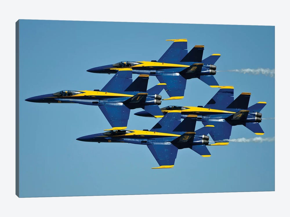 US Navy Flight Demonstration Squadron, The Blue Angels III by Stocktrek Images 1-piece Art Print