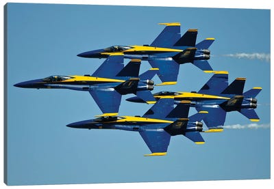 US Navy Flight Demonstration Squadron, The Blue Angels III Canvas Art Print
