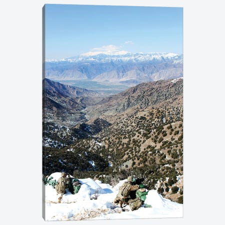 US Soldiers Provide Security During An Afghan Border Patrol Canvas Print #TRK1041} by Stocktrek Images Canvas Wall Art