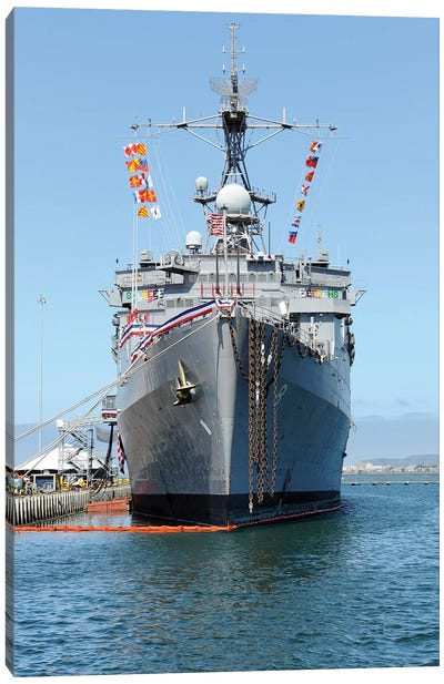 USS Dubuque Is Moored During It's Decommissioning Ceremony Canvas Art Print