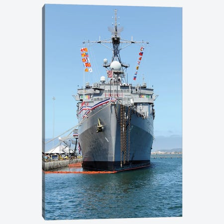 USS Dubuque Is Moored During It's Decommissioning Ceremony Canvas Print #TRK1049} by Stocktrek Images Canvas Wall Art