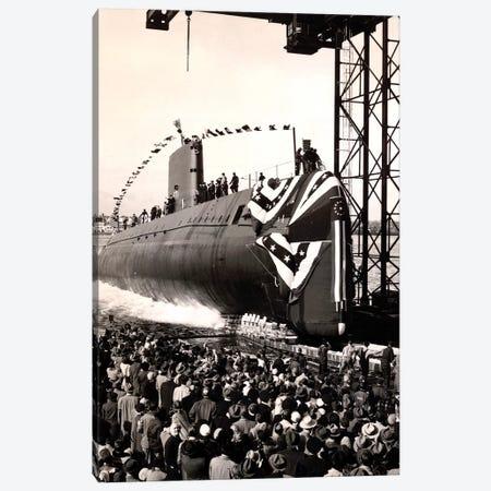 USS Nautilus Slips Into The Thames River Canvas Print #TRK1053} by Stocktrek Images Art Print