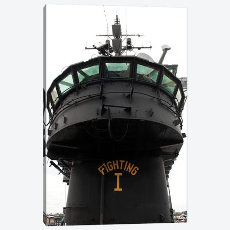 View Of The Front Section Of The Superstructure Of The USS Intrepid Canvas Print #TRK1060} by Stocktrek Images Canvas Art