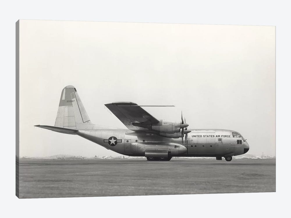 YC-130 First Flight From Burbank, California by Stocktrek Images 1-piece Canvas Wall Art