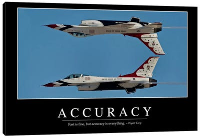 Accuracy Canvas Art Print