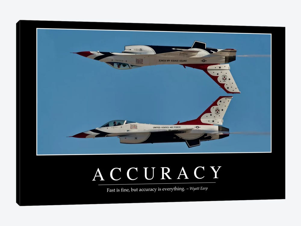 Accuracy by Stocktrek Images 1-piece Canvas Wall Art