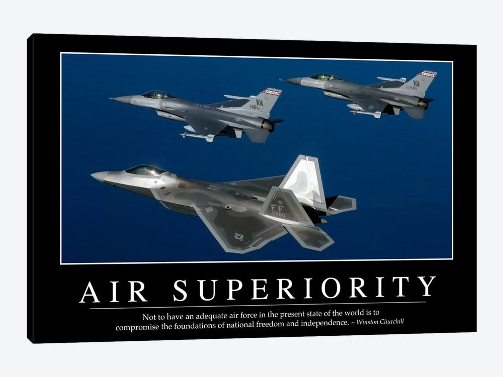 Air Superiority 1-piece Canvas Print