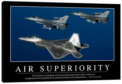 Air Superiority Canvas Art Print