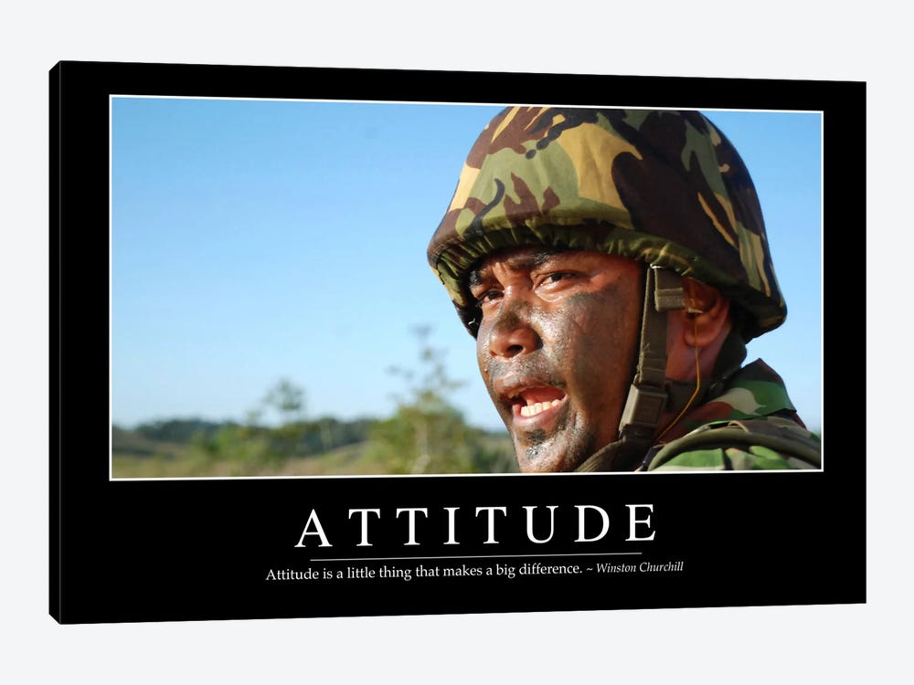 Attitude II 1-piece Canvas Art Print