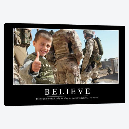 Believe Canvas Print #TRK1080} by Stocktrek Images Canvas Art
