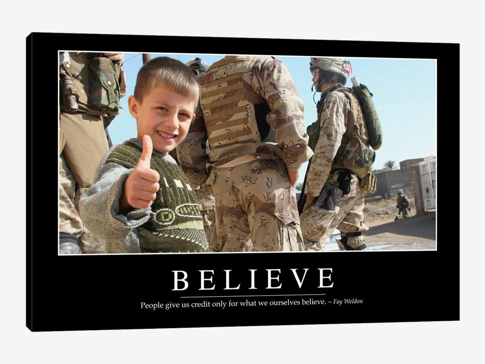 Believe by Stocktrek Images 1-piece Canvas Print