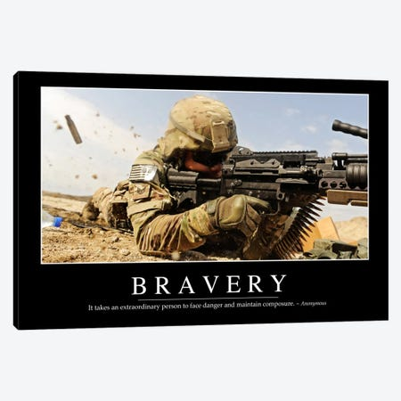 Bravery Canvas Print #TRK1081} by Stocktrek Images Canvas Wall Art