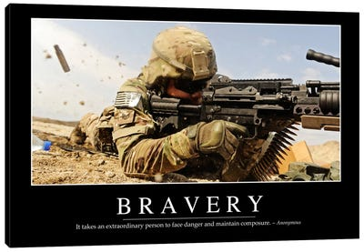 Bravery Canvas Art Print