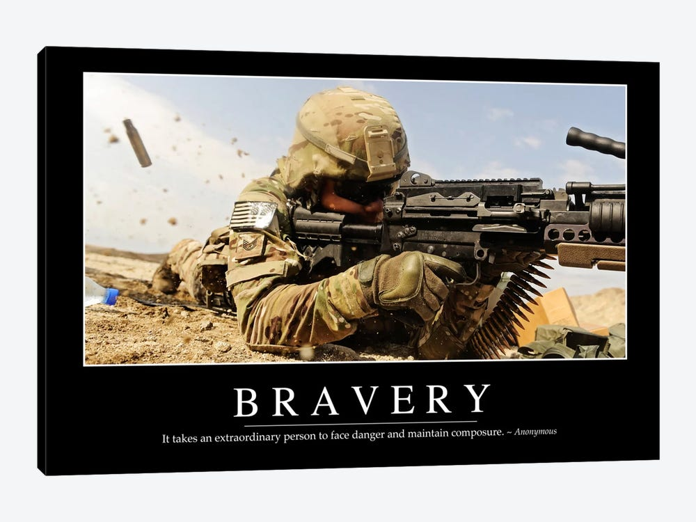 Bravery by Stocktrek Images 1-piece Canvas Artwork