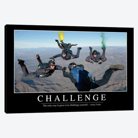 Challenge Canvas Print #TRK1082} by Stocktrek Images Canvas Artwork