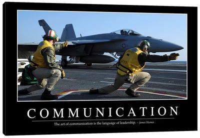Communication Canvas Art Print