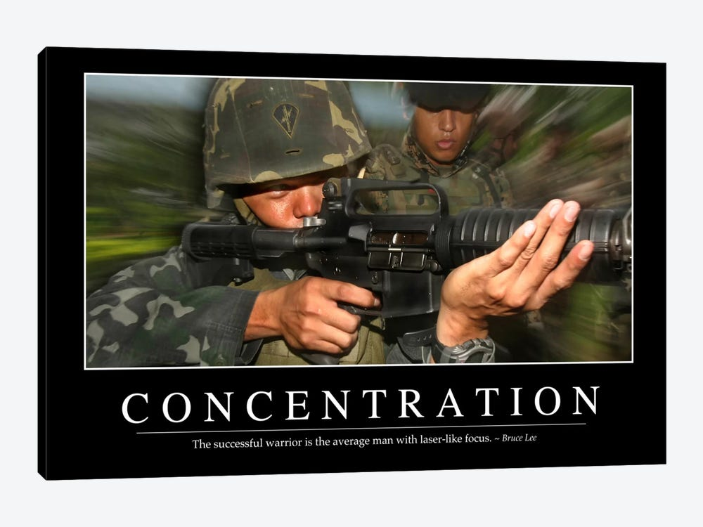 Concentration by Stocktrek Images 1-piece Canvas Artwork