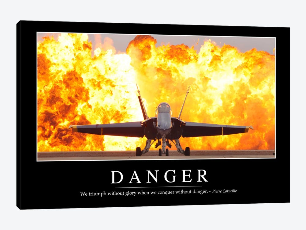 Danger by Stocktrek Images 1-piece Canvas Artwork