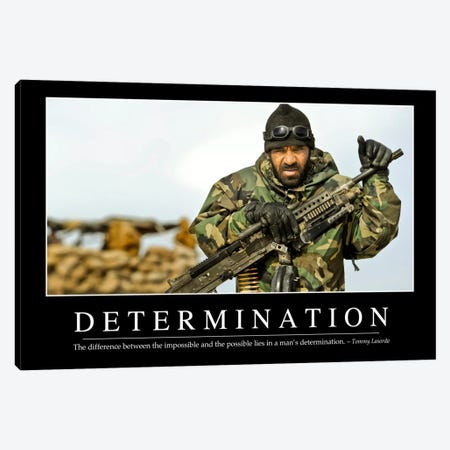 Determination Canvas Print #TRK1092} by Stocktrek Images Art Print