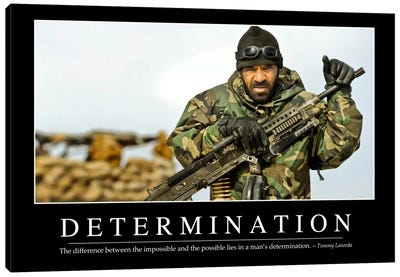 Determination Canvas Art Print
