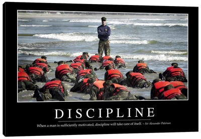 Discipline Canvas Art Print