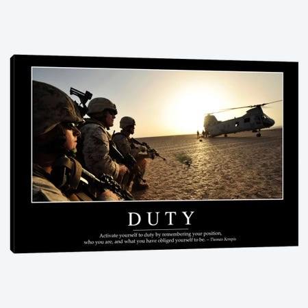 Duty I Canvas Print #TRK1095} by Stocktrek Images Canvas Artwork