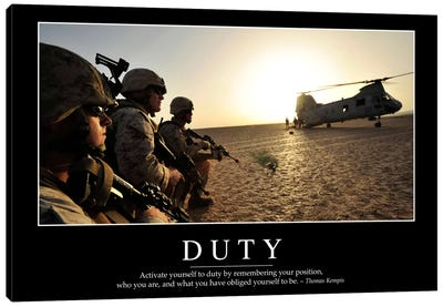 Duty I Canvas Art Print