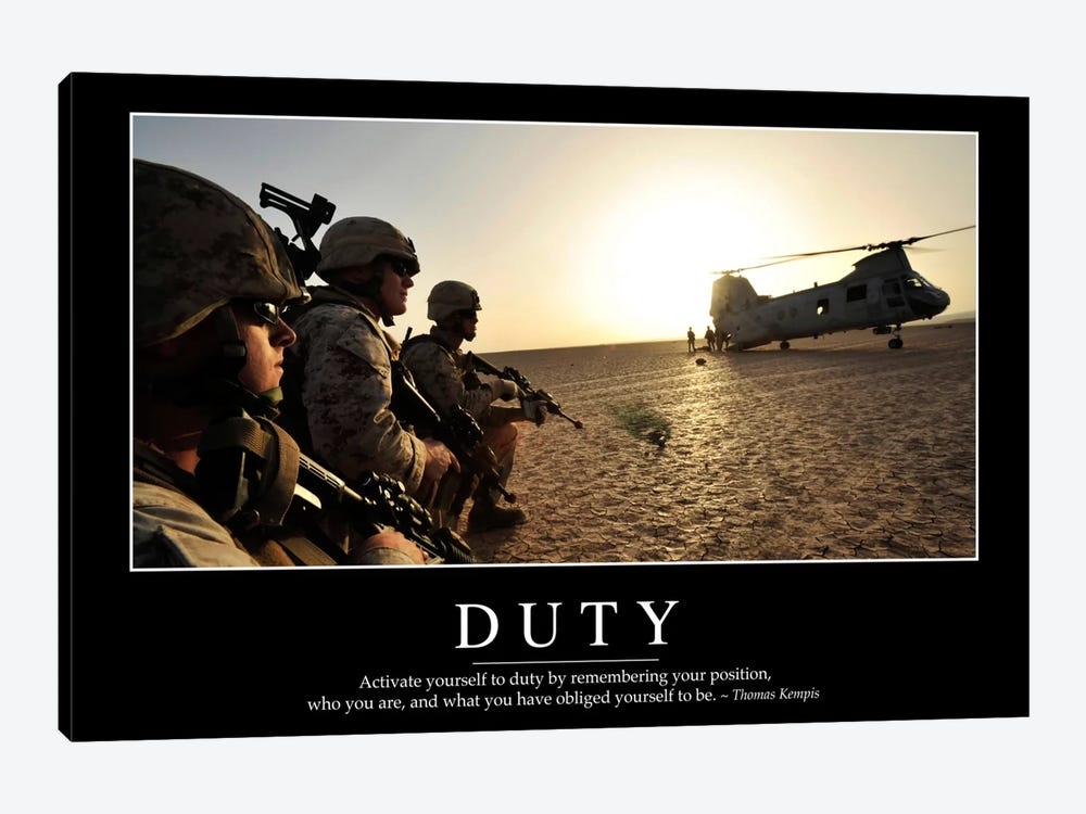 Duty I by Stocktrek Images 1-piece Canvas Art Print