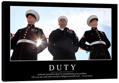 Duty II Canvas Art Print