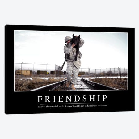 Friendship Canvas Print #TRK1105} by Stocktrek Images Canvas Art