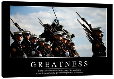 Greatness Canvas Art Print