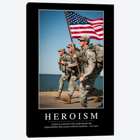 Heroism I Canvas Print #TRK1109} by Stocktrek Images Art Print