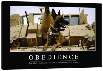 Obedience Canvas Art Print