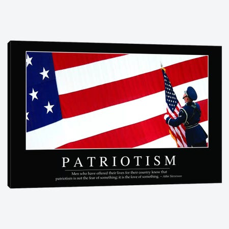 Patriotism Canvas Print #TRK1127} by Stocktrek Images Canvas Artwork