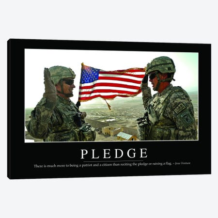 Pledge Canvas Print #TRK1131} by Stocktrek Images Canvas Wall Art