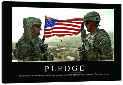 Pledge Canvas Art Print