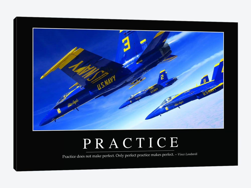 Practice by Stocktrek Images 1-piece Canvas Art Print