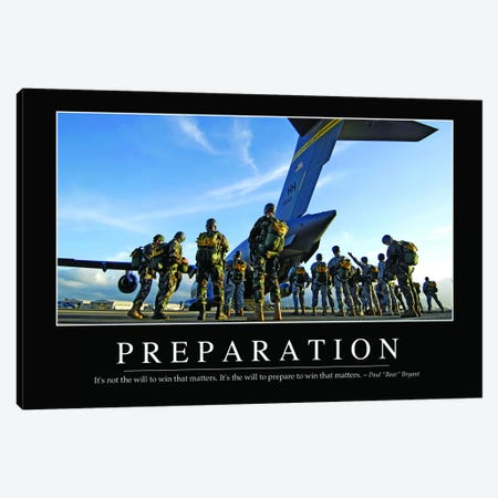 Preparation Canvas Print #TRK1134} by Stocktrek Images Art Print